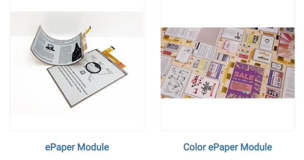 元太科技工業股份有限公司 【電子紙模組 彩色電子紙模組】