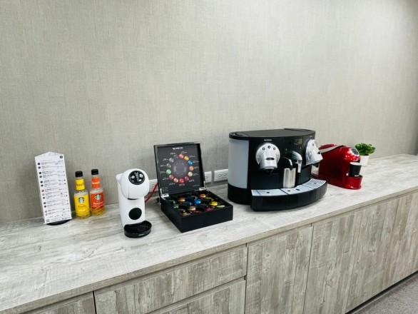 台元紡織股份有限公司 【辦公室休憩空間,提供免費膠囊咖啡、熱巧克力、奶茶。】