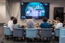自由系統股份有限公司 【休息時間隨時可以來一場電動遊戲的電視牆】